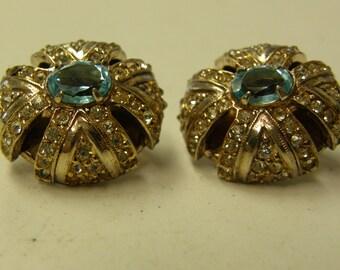 Vintage Castlecliff Sterling Silver Clip On Pearl Earring Set - Gemstones