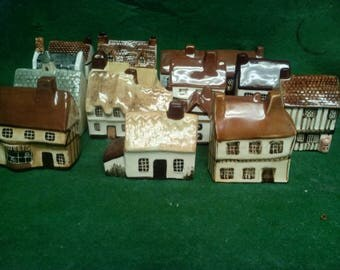 Miniature Houses Around the Corner Lot of 15