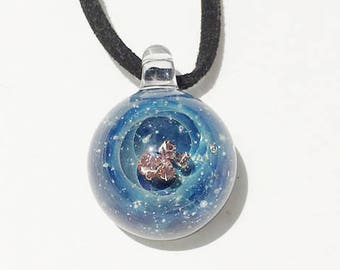 World # 6 of meteorites and meteorite-meteorites with glass pendant universe [free shipping]