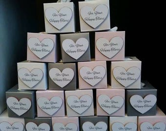 3D Happy Tears Wedding Favours Favors Tissue Boxes ANY COLOUR/S