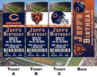 Chicago Bears Ticket Invitation