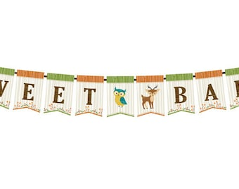 Woodland Baby Shower Bunting - by Lillian Rose