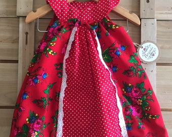 """Red Goralski """"Tybet"""" with Red Polka Dot Gosia Dress"""