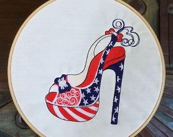Patriotic Pump - Machine Embroidery Design