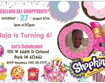 Shopkins Invitation