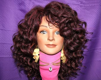 "READY TO SHIP //Synthetic Crochet wig ""Curly Vibes"""