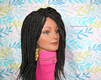 "READY TO SHIP // Synthetic crochet wig ""Box braid Beauty"""
