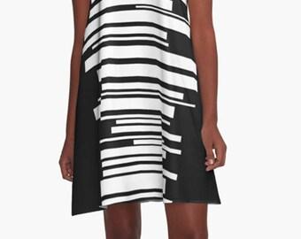 Summer Dress, Womens Gift, Dress, Party Dress, Retro Dress, XL Dress, Retro, Mini Dress, Mod Dress, Black Dress, Casual Dress