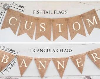 Burlap Custom Banner