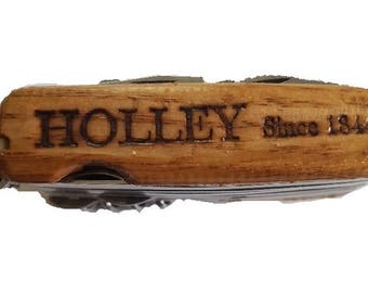 """Customizable Holley MOD20 w/ Premium Wood Scales Type """"JULYHOLLEY"""" in promo code for 20% off"""