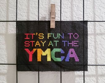 It's Fun to Stay at the YMCA! Cross-stitch