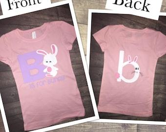 B is for Bunny, Alphabet shirt