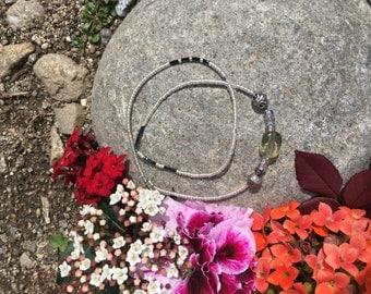 Boho double wrapped beaded bracelet