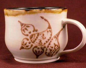Wheel Thrown Henna Teacup