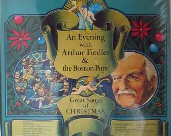 Arthur Fiedler Album, 1979 Boston Pops, Great Songs of Christmas, Vintage Vinyl LP, SEALED
