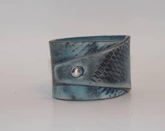 Leather Cuff, Distressed Leather Cuff, Men's Leather Cuff, Women's Leather Cuff, Leather Bracelet, Leather Jewelry, Wide Leather Cuff