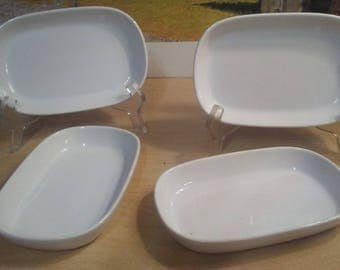 4 Vintage Pfaltzgraff United Airlines Serving Trays