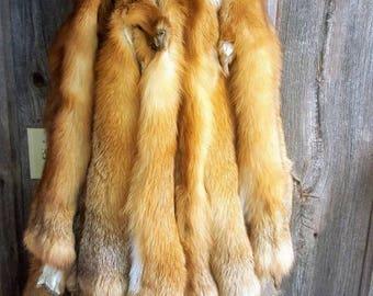 Fox Pelt, skin, hide, professionally tanned.