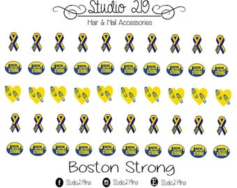 Boston Strong Waterslide Nail Decals