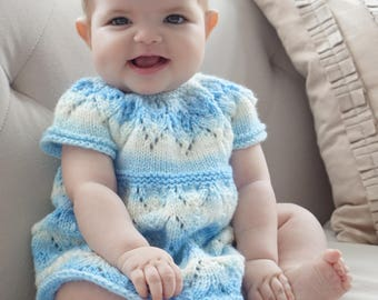 Knit baby dress FREE USA SHIPPING Size 3 months