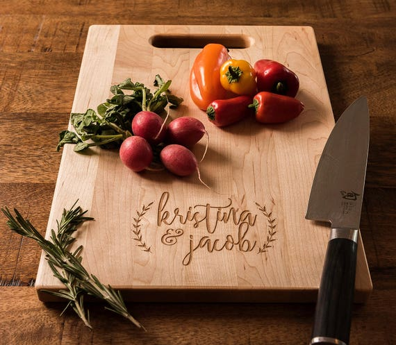 Personalized Cutting Board, Engraved Wood Charcuterie Board, Anniversary Gift, Wedding Gift for Couple, Engagement Gift for Friends