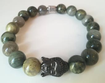 quartz and buddha bracelet