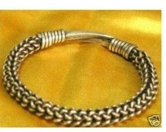 Vintage Tribal Bracelet Cuff. Antique Silver Indian Bracelet. Vintage Tribal Jewelry