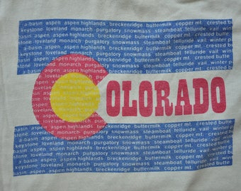 "Vintage 1970s Colorado Ski Country ""The Hills"" Tee // Aspen // Vail // Steamboat // Copper // Breckenridge // Telluride // Mountains //"