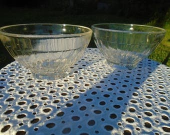 Glass - 60's - bowls - set of 2 bowls