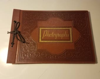 Vintage photo album // Antique style photo album // Gifts for him // Anniversary gift // Wedding gift // Father's day