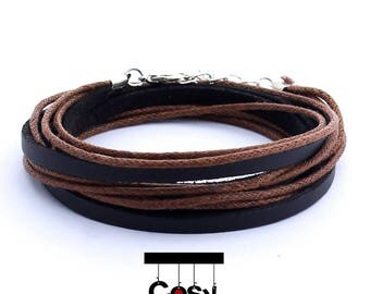Leather wrap bracelet, rope wrap bracelet, braided wrap bracelet, woven wrap bracelet, mens rope bracelet, mens woven bracelet, mens leather