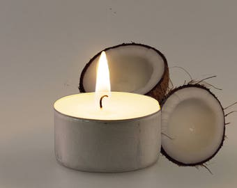 Coconut Scented Vegan Soy Handmade Scented Tealights
