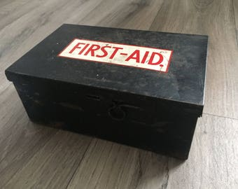 Vintage First Aid Tin / Box