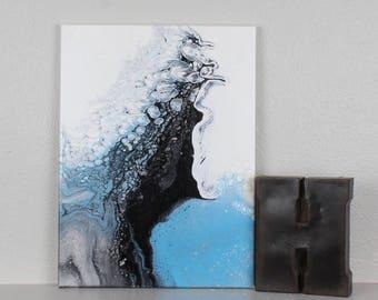 """Acrylic Fluid Painting """"Rise"""" 12""""x16"""""""