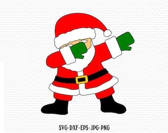 Santa svg Dabbing  svg file Dabbing svg Dab svg Dabbing Santa SVG file Santa Dab svg  Dab svg. CriCut Files svg jpg png dxf Silhouette cameo