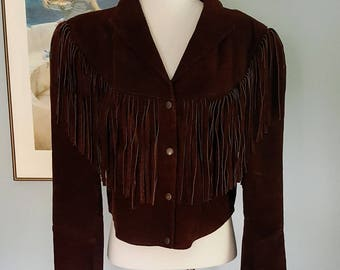 Bohemian Angel fringe Jacket XL suede fringe jacket