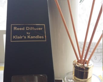 Lavender reed diffuser 100ml, with pure essential oils and porex eReeds, great gifts in a black gift box, made by Klair's Kandles