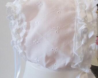 Cap White Cotton