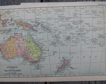 1903-Australia Vintage Map, Antique-Vintage Printing of Australia- Home and Office Decor