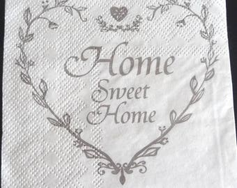 Heart home sweet home paper towel