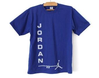 90's Air Jordan Shirt, Vintage Jordan Tshirt, Blue Nike Jordan T-shirt, Air Jordan Sweatshirt, Jumpman Shirt, Nike Jordan Tee, Nike T-shirt