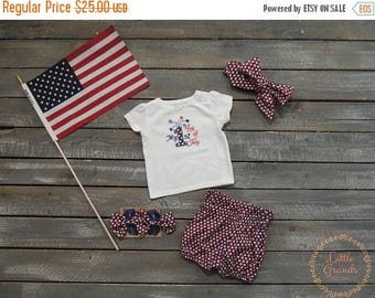 20 PERCENT OFF 3-6 Months Fourth of July T-Shirt and Shorts Set