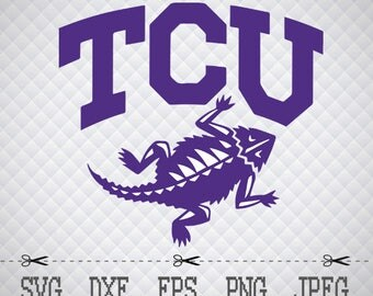 TCu Horned Frogs Logo SVG DXF EPS Png Digital Cut Vector Files Silhouette Studio Cricut Design Space for Cameo & Cricut Explore Vinyl