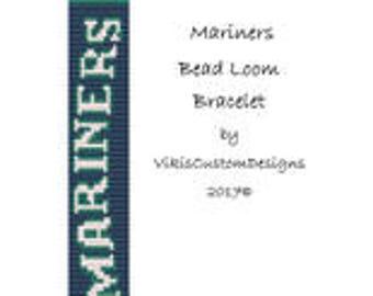 Mariners Word Bead Loom Bracelet Pattern by VikisCustomDesigns