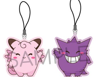 Clefairy & Gengar Frosted Charms