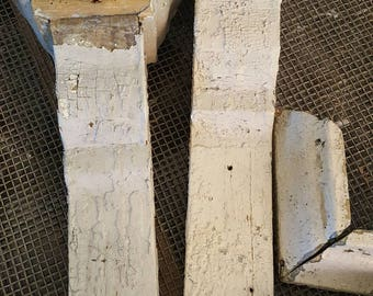 Salvaged Antique Chippy Farmhouse Corbels Set