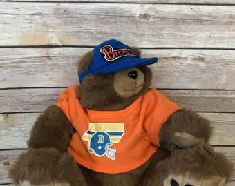 Vintage 80s Denver Broncos Teddy Bear by Trudy