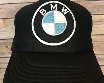 Vintage BMW Logo Trucker Hat