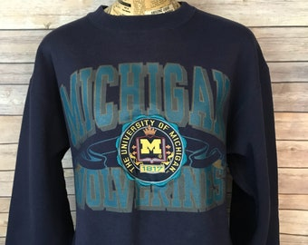 Vintage University of Michigan Wolverines Crewneck Sweatshirt (L)