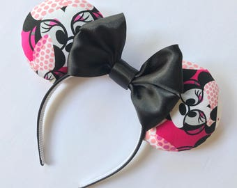 Disney Minnie Ears, Minnie Big Glasses ears, Minnie Glasses ears